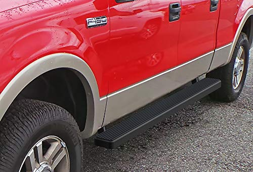 2007 Ford F150 Heritage Edition - APS iBoard Running Boards (Nerf Bars Side Steps Step Bars) Compatible with 2004-2008 Ford F150 SuperCrew Cab Pickup 4-Door (Exclude 04 Heritage Edition) (Black Powder Coated 5 inches)