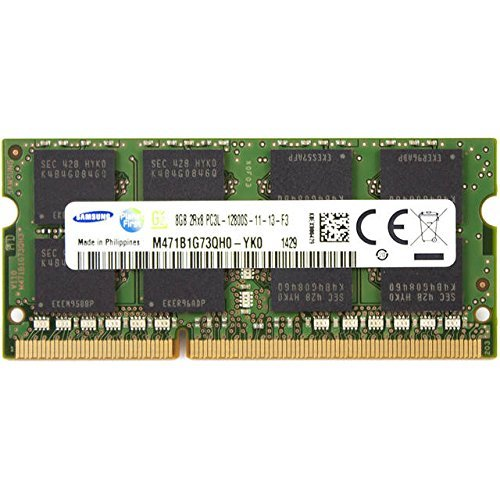 Samsung DDR3L-1600 SODIMM 8GB/1Gx64 CL11 Samsung Chip Notebook Memory (M471B1G73QH0-YK000) by Samsung