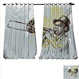 Best Div X Players - familytaste Customized Curtains Trumpet Player Illustration Rock Roll Review