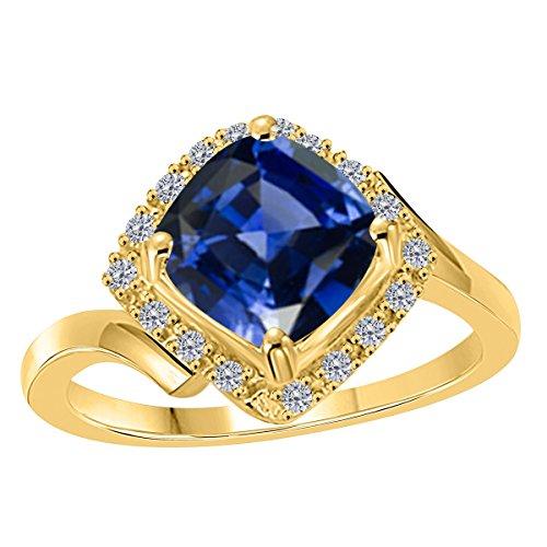 2.35 Carat 10K Rose, White & Yellow Gold Tanzanite Halo Diamond ()