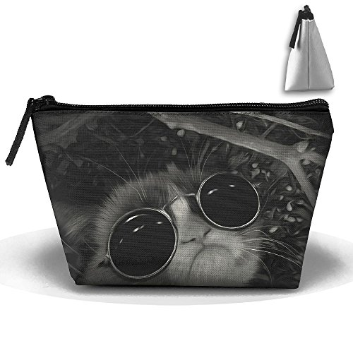Portable Travel Grumpy Cat Sunglasses Storage Pouch Cosmetic Toiletry Bags Organizer Travel - Cat Sunglasses Grumpy