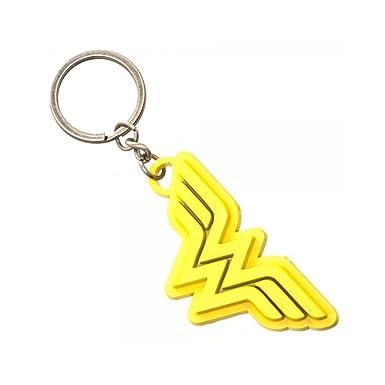 Amazon.com: DC Comics Wonder Woman Amarillo Escudo llavero ...