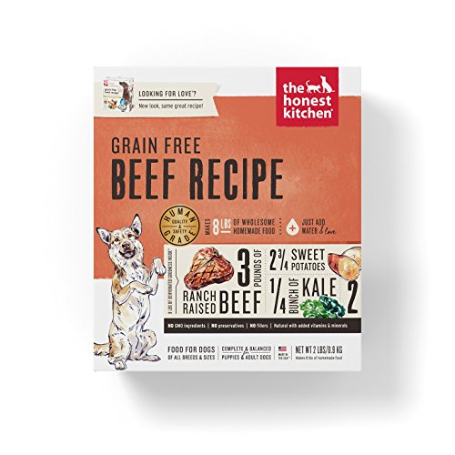 Honest Kitchen Human Grade Dehydrated Grain Free Beef Dog Food 2 lb - Love
