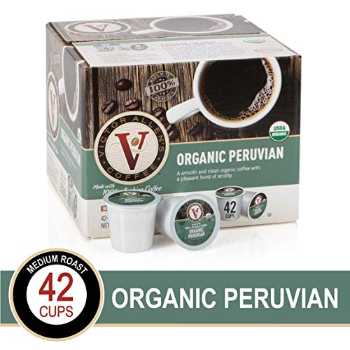 (Organic Peruvian for K-Cup Keurig 2.0 Brewers, 42 Count, Victor Allen's Coffee Medium Roast Single Serve Coffee Pods)