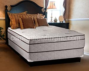 dreamy rest pillow top euro top queen size mattress and box spring set kitchen. Black Bedroom Furniture Sets. Home Design Ideas