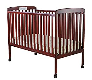 Dream On Me Bethany 2 in 1 Convertible Stationary Side Crib, Cherry
