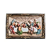 ORE International K-2534-P3 Last Supper Wall Hanging, 10-Inch