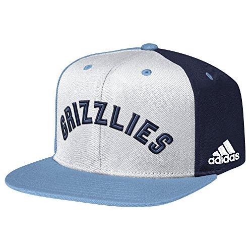 adidas NBA Memphis Grizzlies Men's Team Nation Snapback Cap, White, One (Grizzlies Hat Cap)
