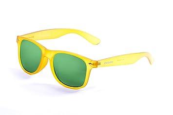 Ocean Sunglasses Beach wayfarer - gafas de sol polarizadas - Montura : Amarillo Acido - Lentes : Verde Espejo (18202.99): Amazon.es: Deportes y aire libre