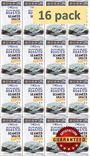 Kim's Seaweed Snacks, Sea Salt, Roasted, 5.0g (Pack of - Sushi Seaweed Toasted