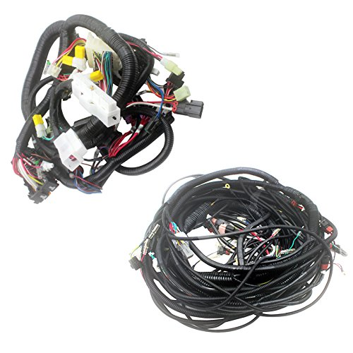0001044 4296868 4296868 Complete Wiring Harness - SINOMP Internal and External Wiring Harness for Hitachi EX200-2 Excavator Electric Parts, 3 Month Warranty (internal and external)