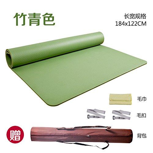YOOMAT Doppel Yoga-Matte Fitness Mat TPE Breite Starke Gesamtübergröße Rutschfest Geruchs- Tanz und Tanz Mat109246