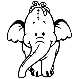 pooh heffalump coloring pages | Lumpy The Heffalump Smile - Cartoon Decal Vinyl Car Wall ...