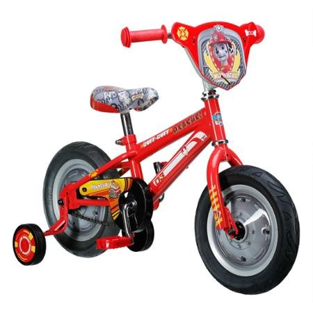 """Paw Patrol Marshall 12"""" Boys Bike, Red, With Training Wheels and Coaster Brake For Beginners, Steel Frame,For Kids 2 - 4 Years, R0228WM"""