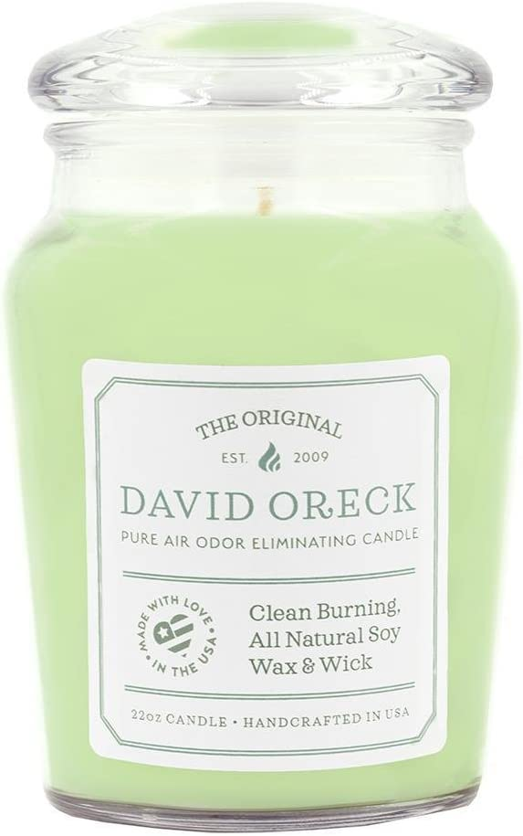 22oz Original Clean Burning Odor Eliminating Candle, 120 Hour Burn Time, Cucumber Melon