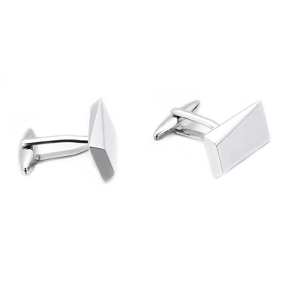 MERIT OCEAN Gold//Black Classic Cufflinks for Men Stainless Steel Wedding Business Gifts