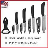 Ceramic knife Set Chef's Kitchen Knives 3' 4' 5' 6' + Peeler Knife Cutlery