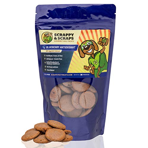 (Scrappy Pet Treats for Dogs - 10 oz Blueberry Dog Treat - Oven-Baked Dog Snacks and Dog Biscuits - Dog Grain Free Treats - Snacks for Dogs - Dog Treats Natural - Grain Free Dog Treats for Large Small)