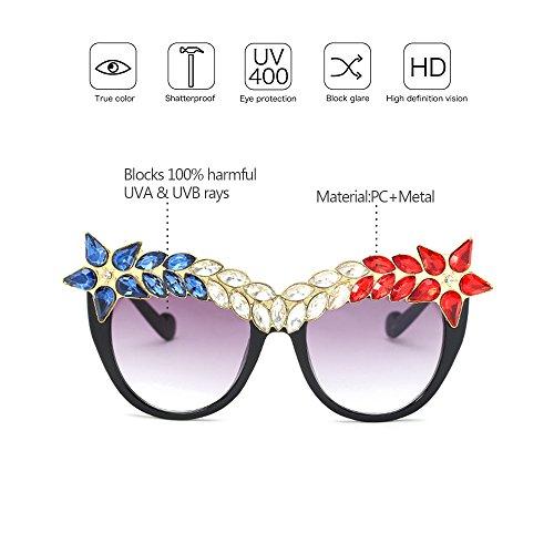 Luxe Décoré à Diamant Lunettes Femmes Rétro Protection Lunettes de Salable ZEVONDA Style Soleil chaud 03 UV400 De Classique Ypxq8Un