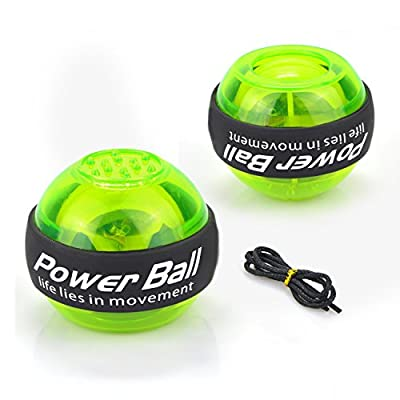 Elemart Wrist Ball Gyroscopic Hand Wrist Arm Strengthener Gyro Wrist Power Ball with LED Light for Wrist & Forearm Exerciser from Elemart