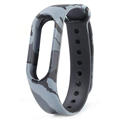 SeCro Camouflage Replacement Band Strap for Xiaomi Mi Band 2 | Xiaomi MI  Band HRX Edition (Device Not Included) (Army Grey)
