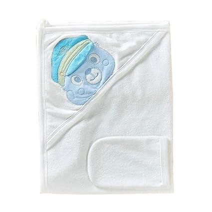 Oso de toalla con capucha de algodón – Incluye 1 gratis Manopla – con süßem Diseño