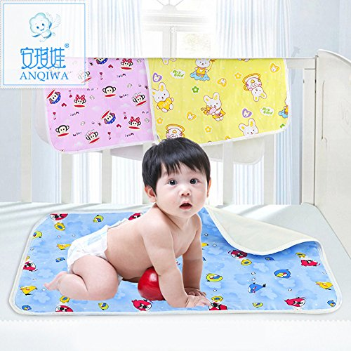 ANQIWA Baby & Toddler Waterproof Mattress Bed Protector Baby Changing Pad Diaper Changing Mat for Cribs,stroller, Cradle & outdoor (Extra Large, Pink)