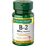 Nature's Bounty Vitamin B-2 100 mg, 100 Tablets (Pack of 3)