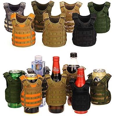 DSMY Beer Tactical Vest Cooler Military Bottle Beverage Holder Mini Molle Hunting Adjustable Shoulder Straps