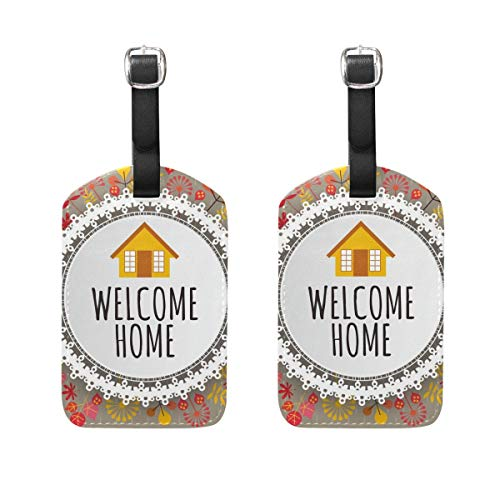 - zhurunshangmaoGYS Welcome Home Fall Sign Travel Luggage Tags Suitcase Labels Pack of 2 Set Of 2