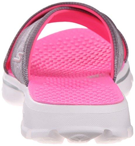 Performance Go Women's Charcoal Flop Skechers Flip Pink Hot Fiji Walk Eavx5w