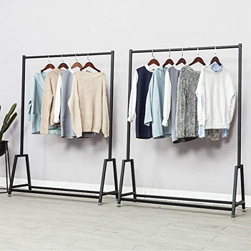 LINGYAN Mall Clothing Rack,Photo Studio Clothing Display Stand,Performance Costume Prop Display Stand,Balcony Drying Rack,Bedroom Hanger,Indoor Dry Hanger,Clothing Shelf,Metal Iron Frame (Gold) by LINGYAN (Image #6)