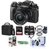 Fujifilm X-T2 Mirrorless Digital Camera with 18-55mm Lens - Camera Case, 32GB SDHC U3 Card, Cleaning Kit, Memory Wallet, Card Reader, Software,58mm Filter Kit