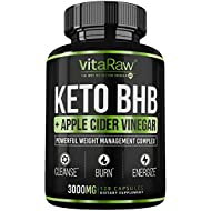 Keto Pills with Green Tea + Organic Apple Cider Vinegar Capsules [ Powerful 3000MG Diet Pills ] Exogenous Ketones Supplement + ACV | Keto BHB Ketones Detox Cleanse That Work Fast for Women and Men