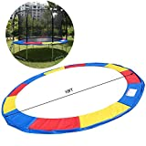 PEATAO 10FT Trampoline Safety Pad, Trampoline Replacement Pad Cover Waterproof Frame Spring Round Frame Cover (US Stock)