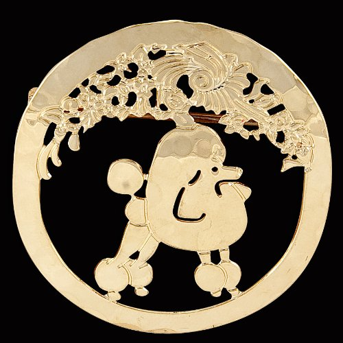 Haute Dauge Poodle Gold Plated Large Pin (N130PINL)