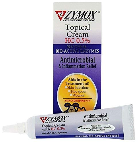 Zymox Topical Cream with 0.5 Hydrocortisone 1 oz