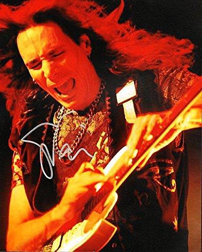 Steve Vai Autographed Signed 8x10 Guitar Solo Photo UACC RD COA AFTAL