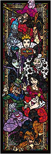 456 pieces jigsaw puzzle stained art Disney villains stained