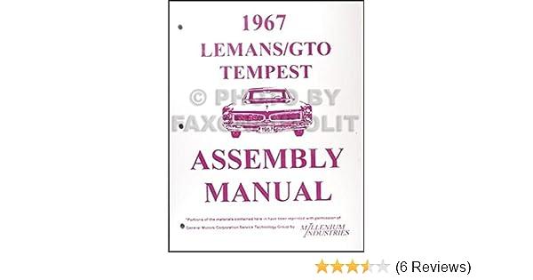 1967 gto, tempest, & lemans assembly manual reprint: pontiac: amazon com:  books