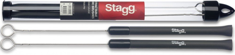 Spazzole con setole retrattili Stagg 20924 SBRU20-RM con manico in gomma