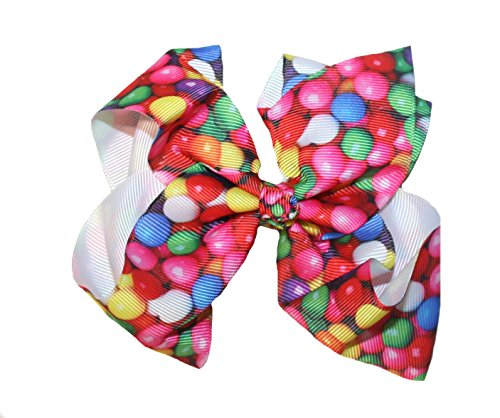 Candy Themed Bow Hair Clip Barrett (Gum Balls) (Candy Nickles compare prices)
