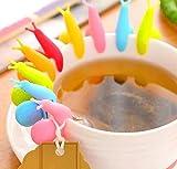 Drhob 6 pcs Exquisite Snail Shape Silicone Tea Bag