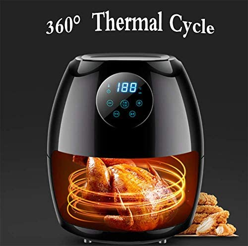 Cfbcc Air Fryer 3.5 L électrique Air Fryer Four Cuisinière avec écran de contrôle de Smart Touch, Non Stick Fry Panier, Guide de Recettes Arrêt Automatique Fonction, 1300W