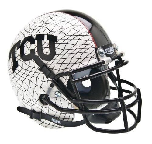 NCAA TCU Horned Frogs Replica XP Helmet - Alternate 3 (White AquaTech) by Schutt