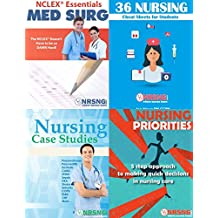 Nursing Student Book Collection (Cheat Sheets, NCLEX® MedSurg Essentials, Priorities, Case Studies) 4 Books in 1