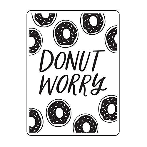 DARICE 30023118 Word Embossing Folders Worry w/Sprinkled Donuts, Multicolor (Word Embossing Folder)
