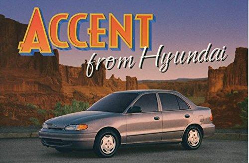 1995-hyundai-accent-original-factory-postcard