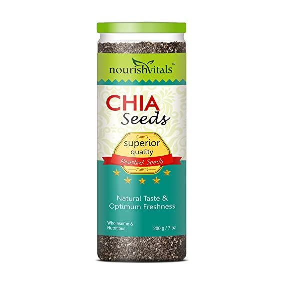 Nourishvitals Superior Quality Roasted Chia Seeds - 200 g