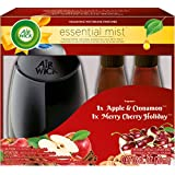 Air Wick Essential Mist Fragrance Mist Diffuser Kit, Gift Pack 1 Diffuser+2 Refills, Air Freshener